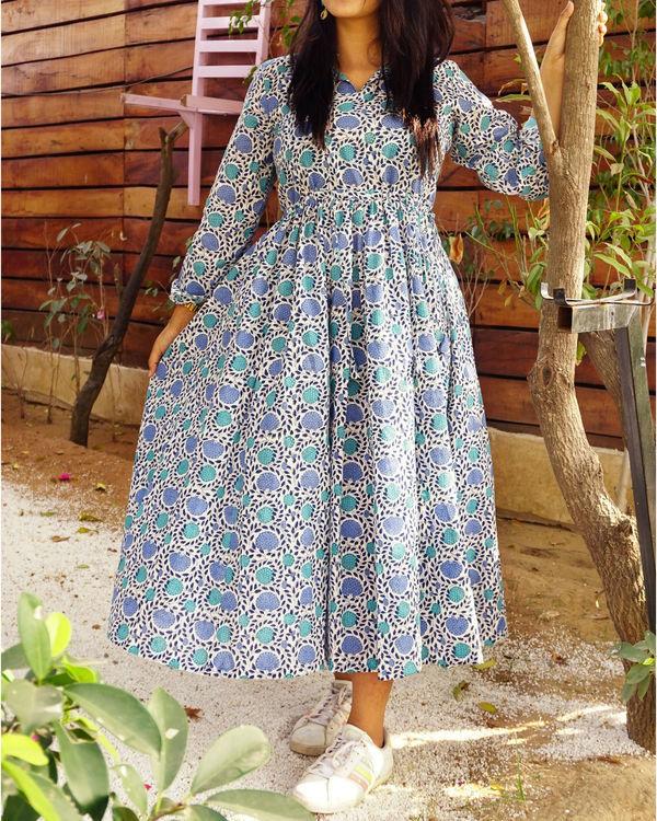 Blue rose dress 1