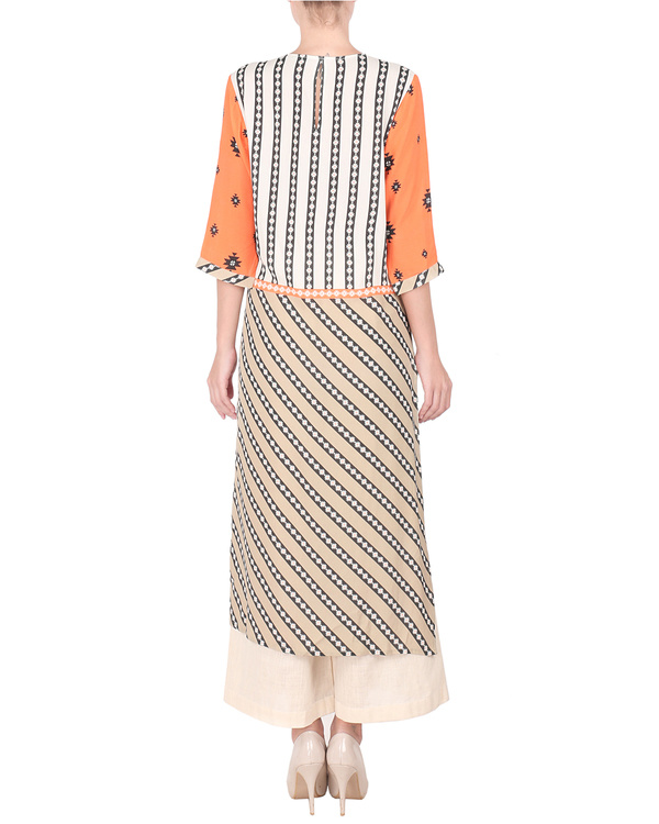 Moss crepe high low kurta with palazzo 2