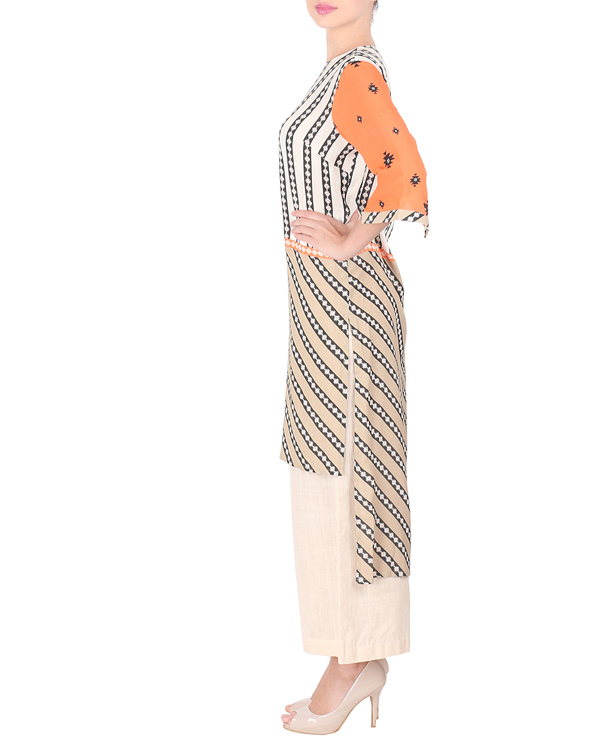 Moss crepe high low kurta with palazzo 3