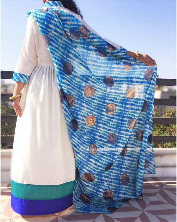 Aqua draped dress 2
