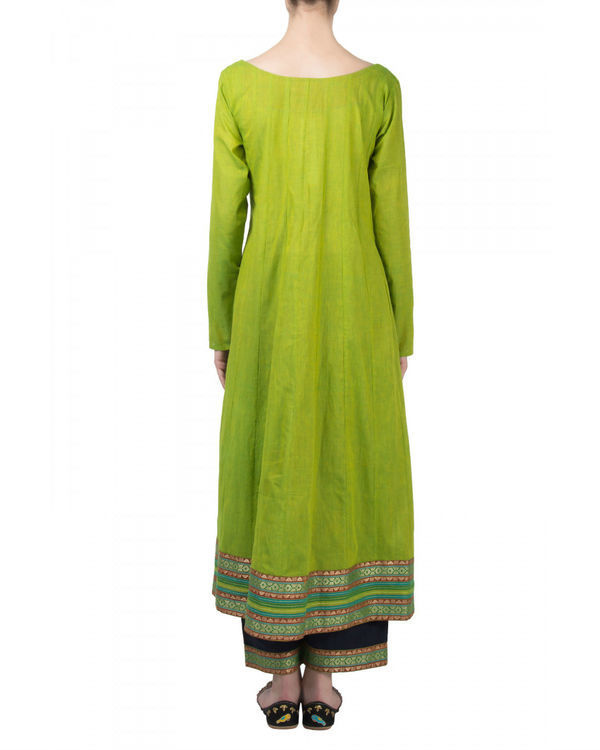 Green navy anarkali set 1