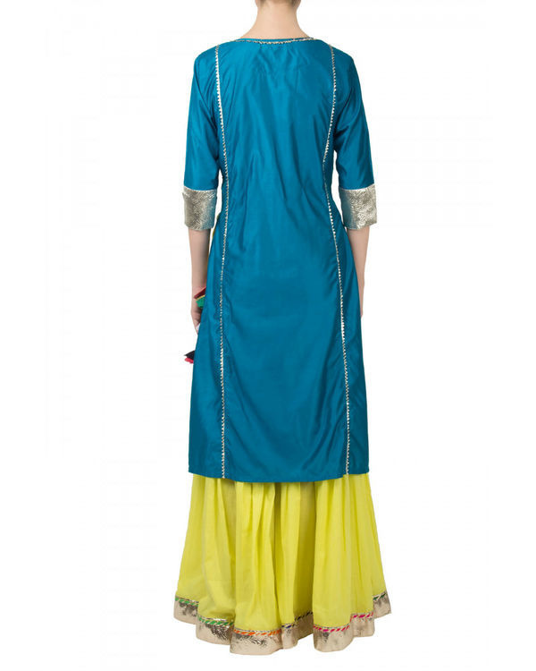 Blue pink anarkali set 1