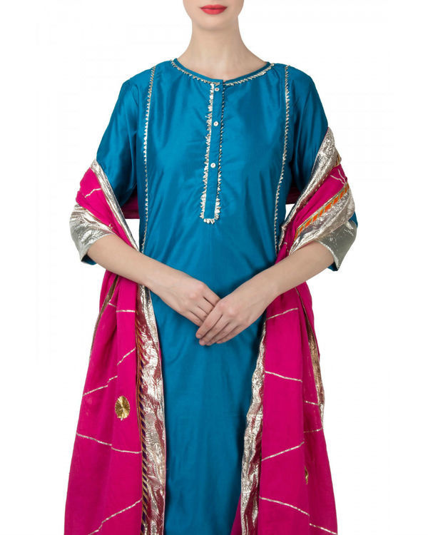 Blue pink anarkali set 2