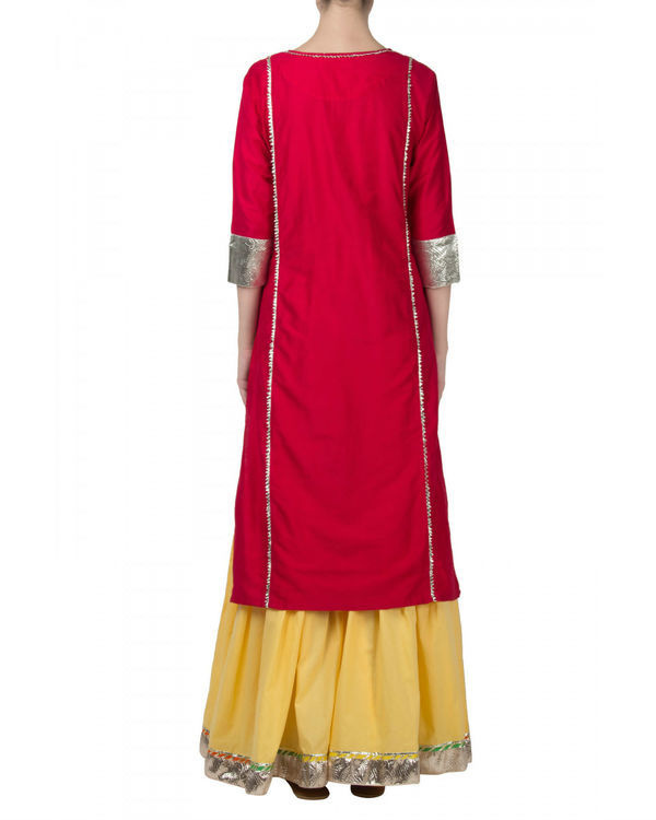 Rani yellow anarkali set 2