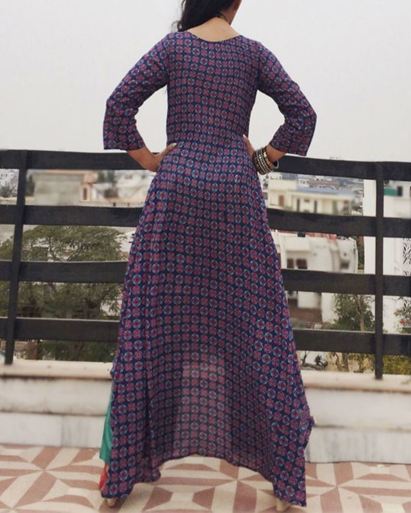 Purple asymmetric kurta set 1