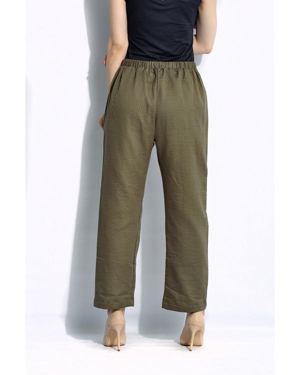 Olive solid pants 2