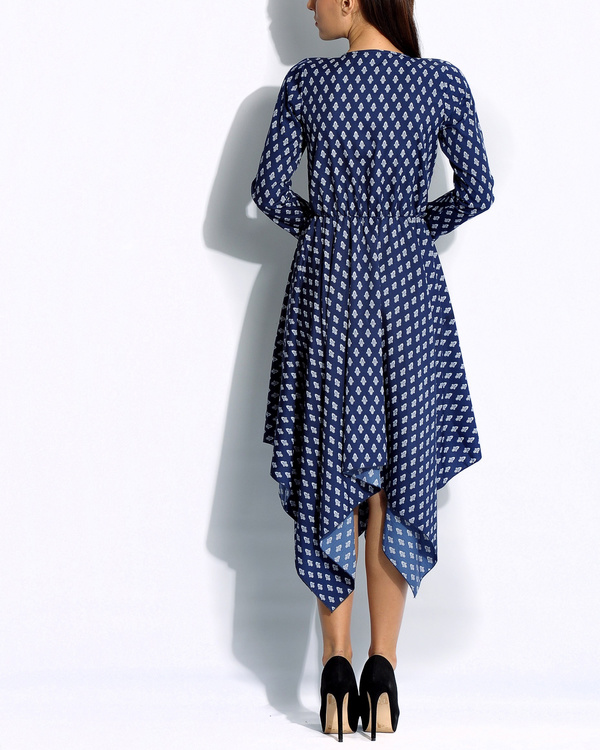 Navy handkerchief dress 2