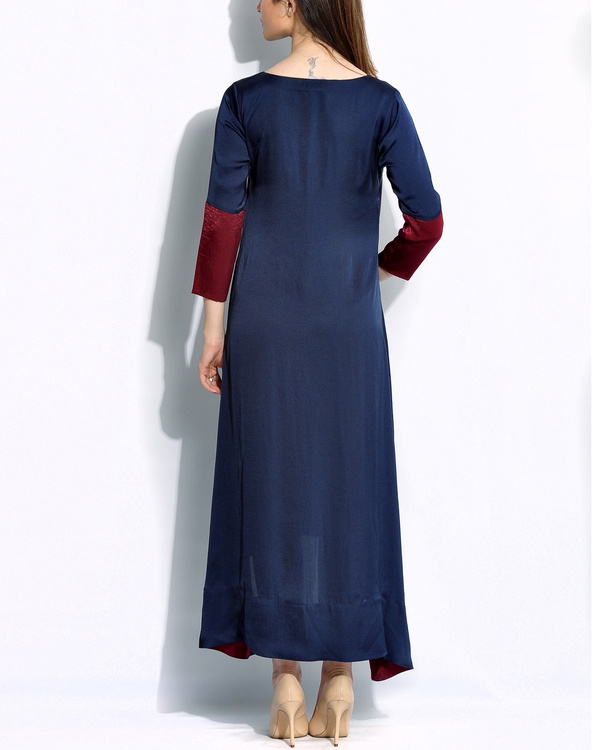 Navy embroidered dress 1