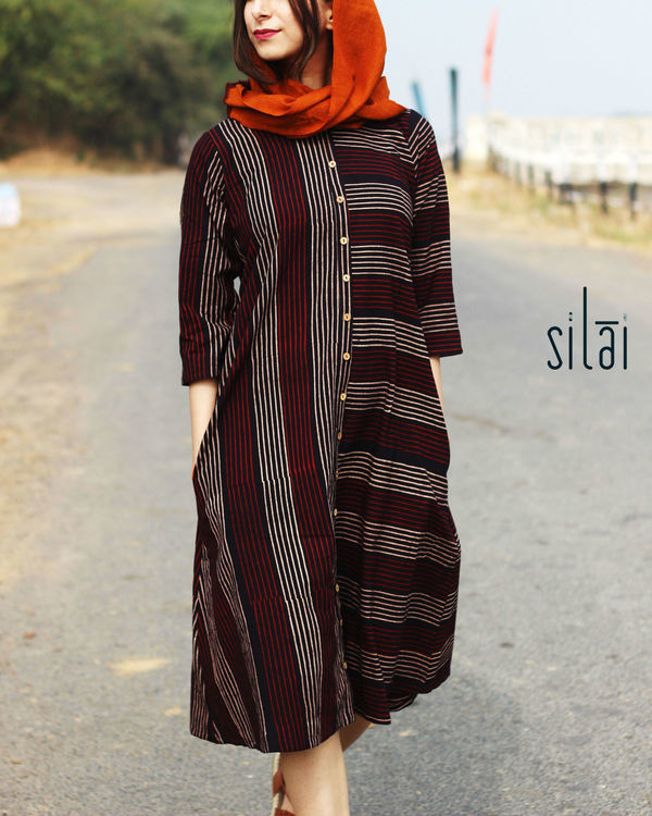 Striped button down tunic 2