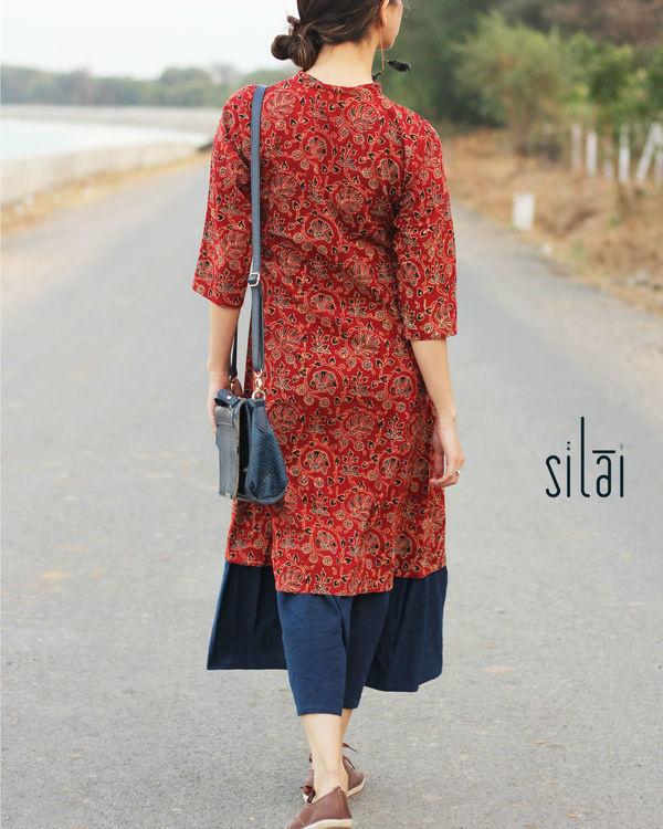 Indigo border ajrakh dress 2