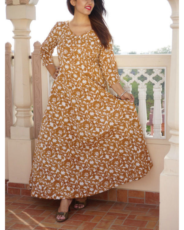Brown floral maxi 1