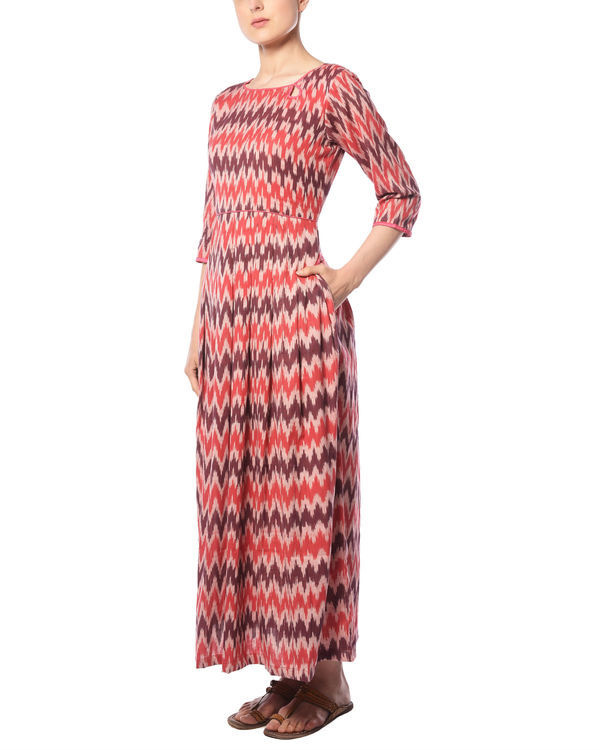 Plum and cherry ikat maxi 1