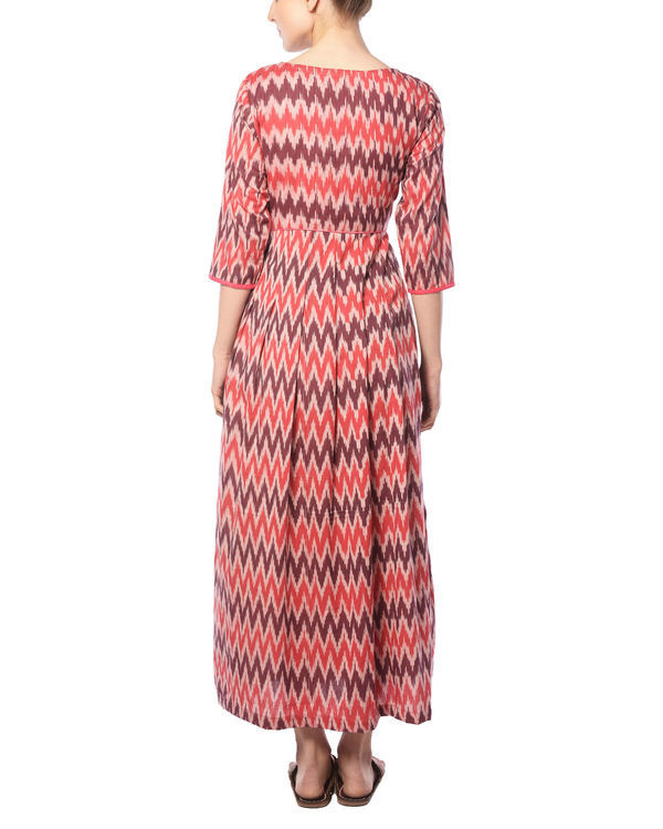 Plum and cherry ikat maxi 3