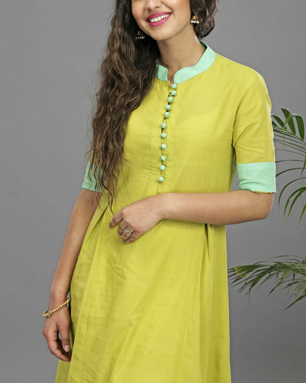 Lime & turquoise tunic 1
