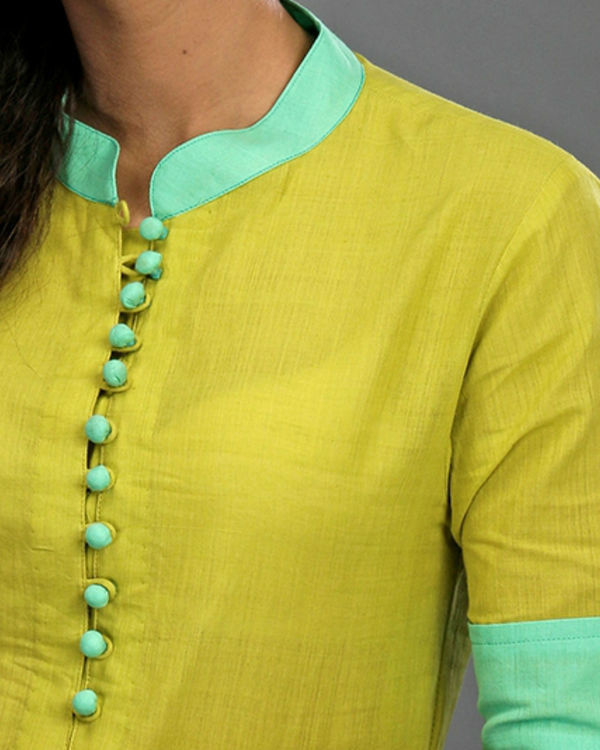 Lime & turquoise tunic 2