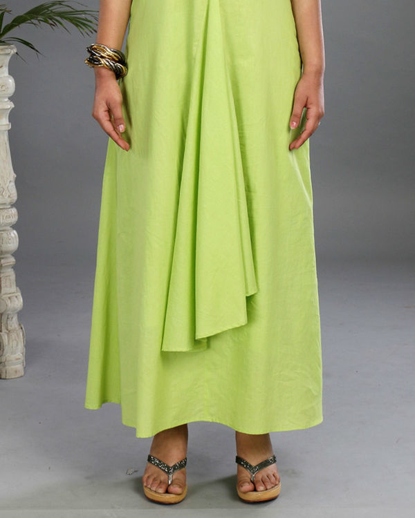 Green asymmetrical gown 2