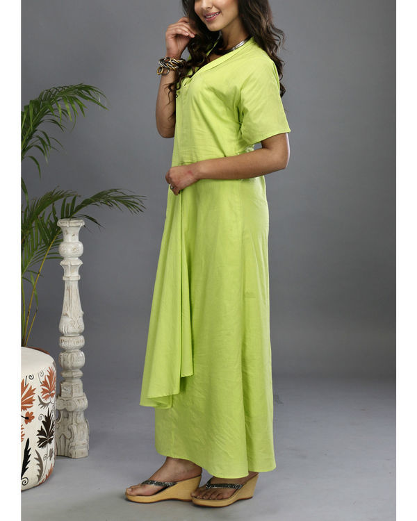 Green asymmetrical gown 3