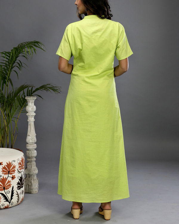 Green asymmetrical gown 4