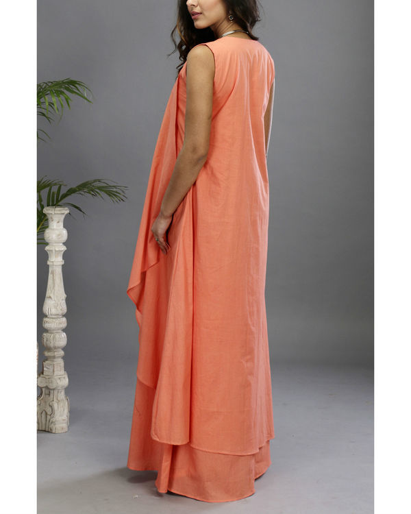 Peach layered gown 3
