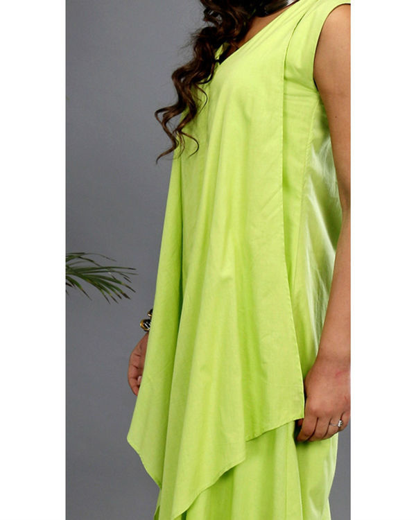 Green layered gown 1