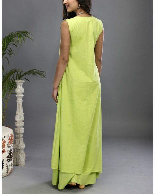 Green layered gown 3