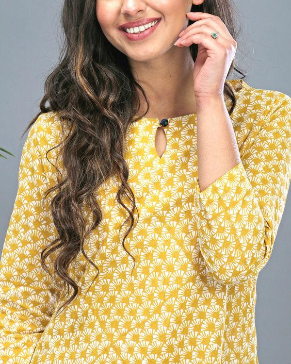 Yellow tasseled dress 2