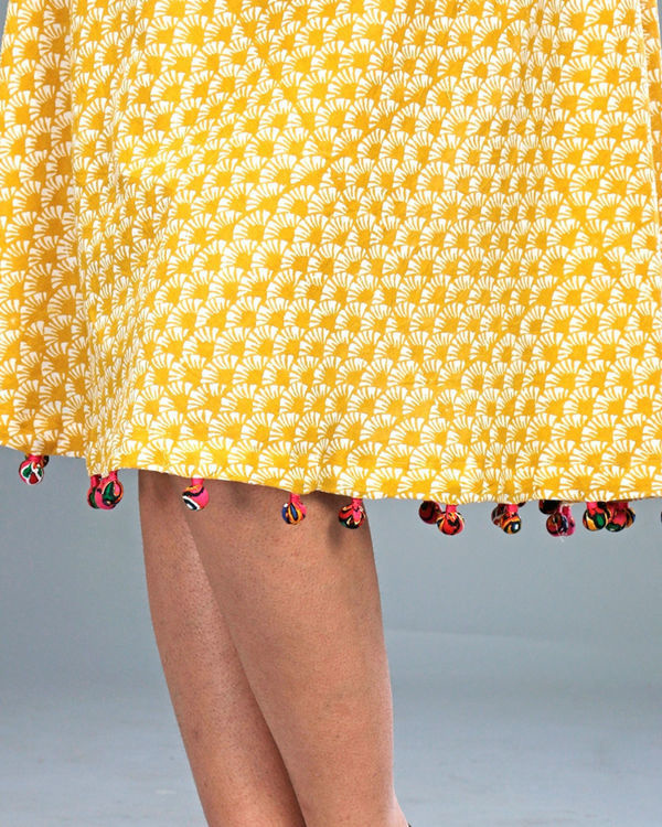 Yellow tasseled dress 3