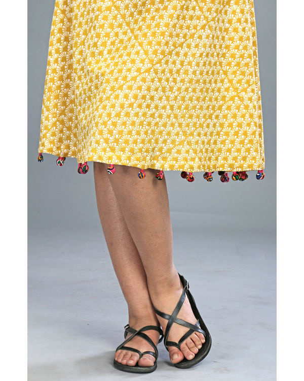 Yellow tasseled dress 4