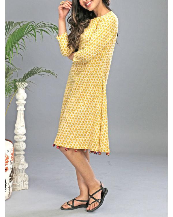 Yellow tasseled dress 5