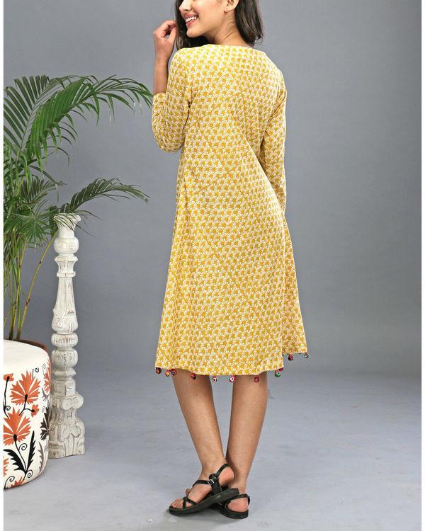 Yellow tasseled dress 6