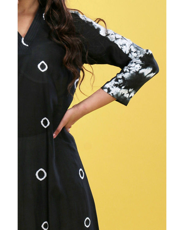 Black tie-dye tunic 4