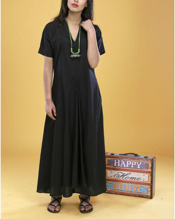 Black asymmetrical gown 1