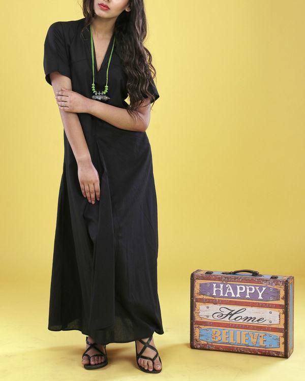 Black asymmetrical gown 2