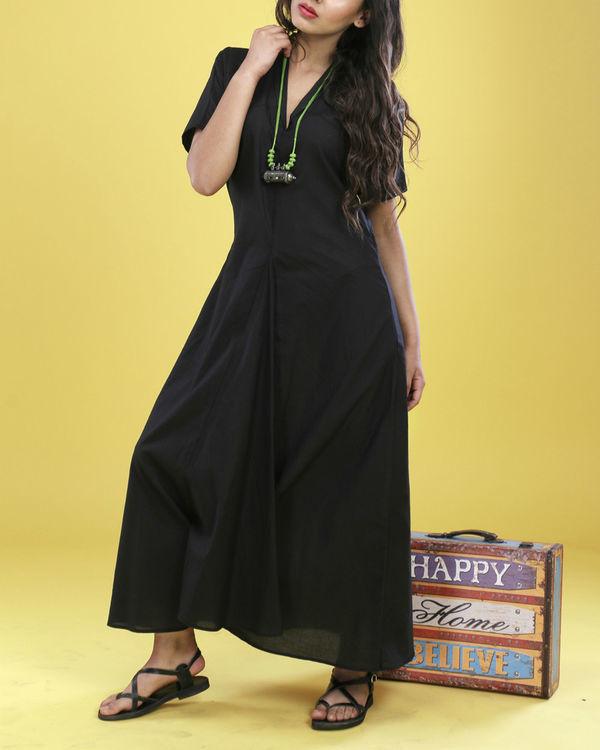 Black asymmetrical gown 4