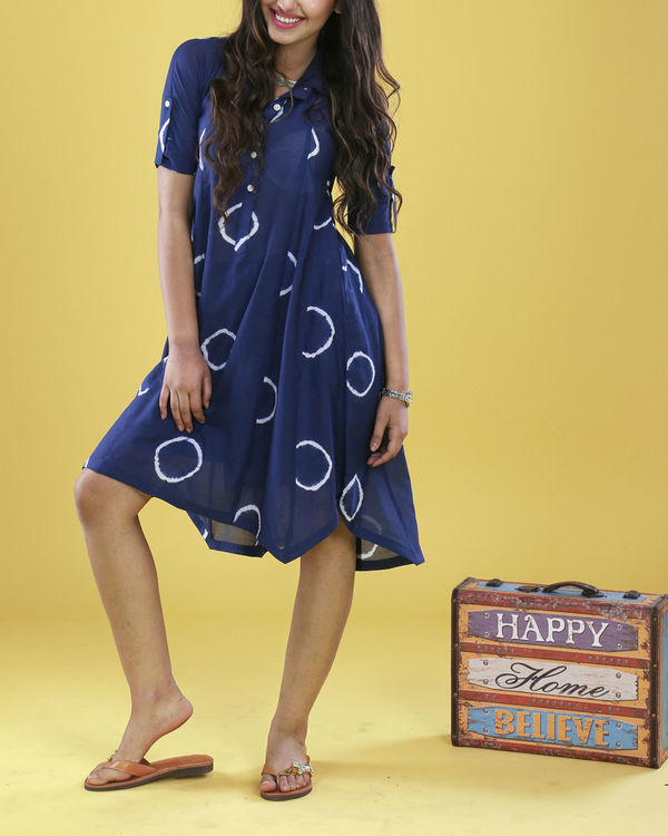 Indigo raglan dress 1