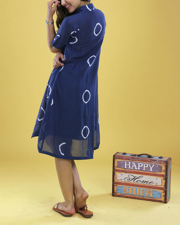 Indigo raglan dress 3
