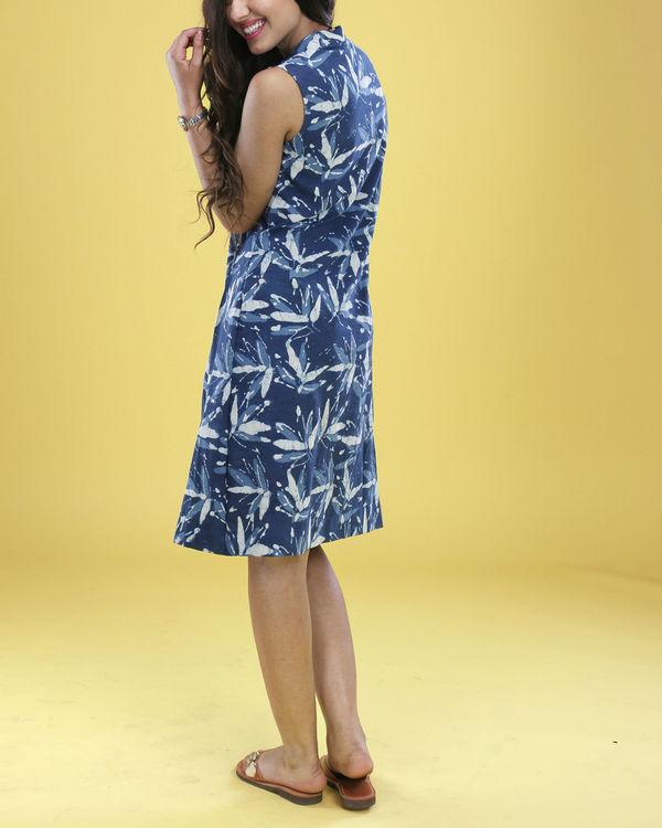 Indigo floral cowl dress 4