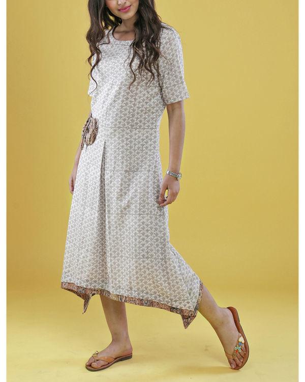 Grey patch pocket dress 1