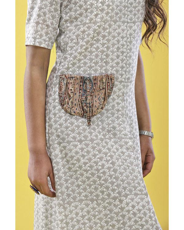 Grey patch pocket dress 2