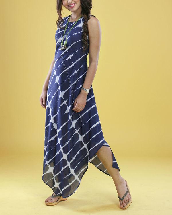 Navy tie dye gown 1