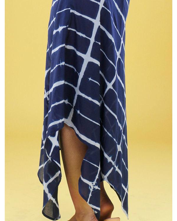 Navy tie dye gown 2