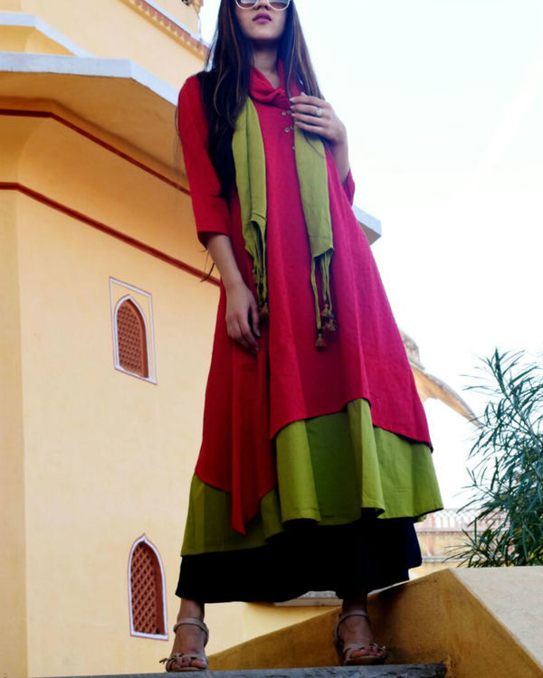 Cherry & lime tunic with stole 1