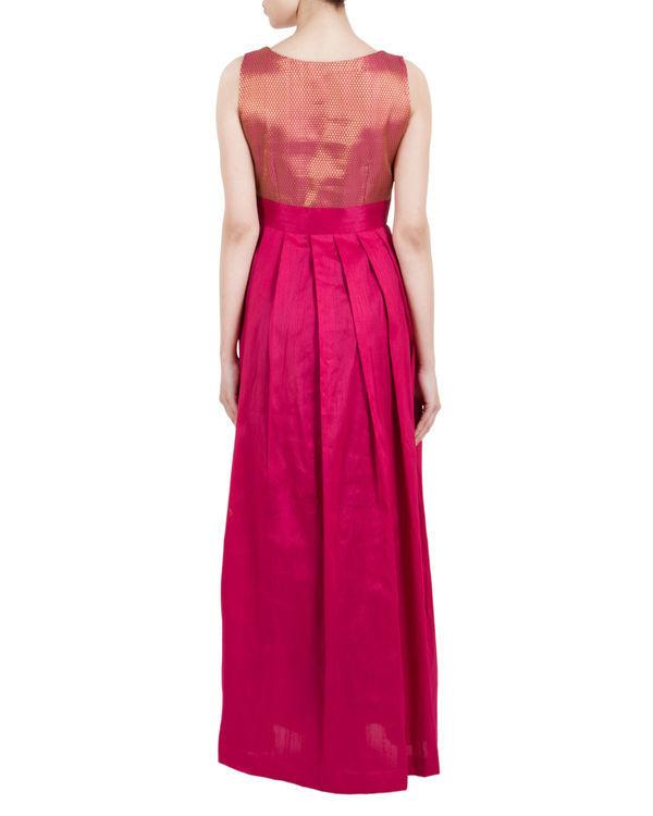 Pink asymmetric pleated dress 2