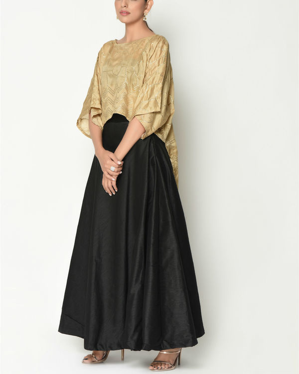 Gold kaftan top with skirt 1