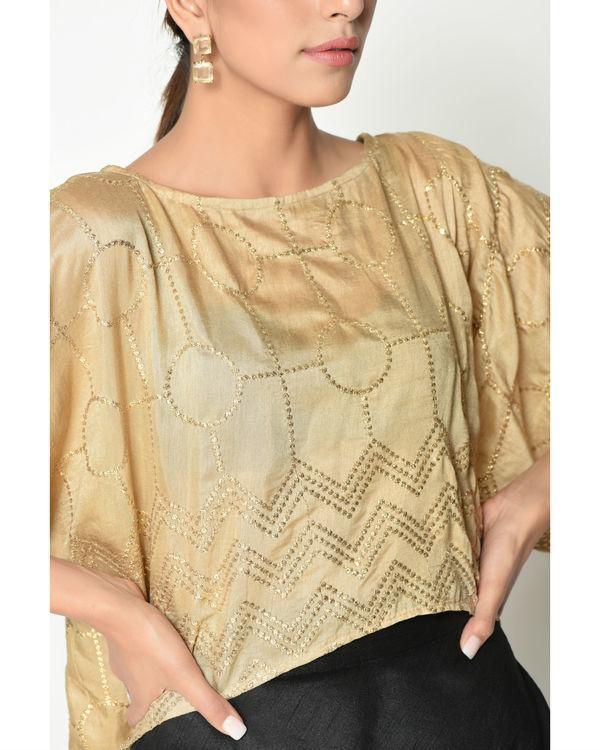 Gold kaftan top with skirt 2