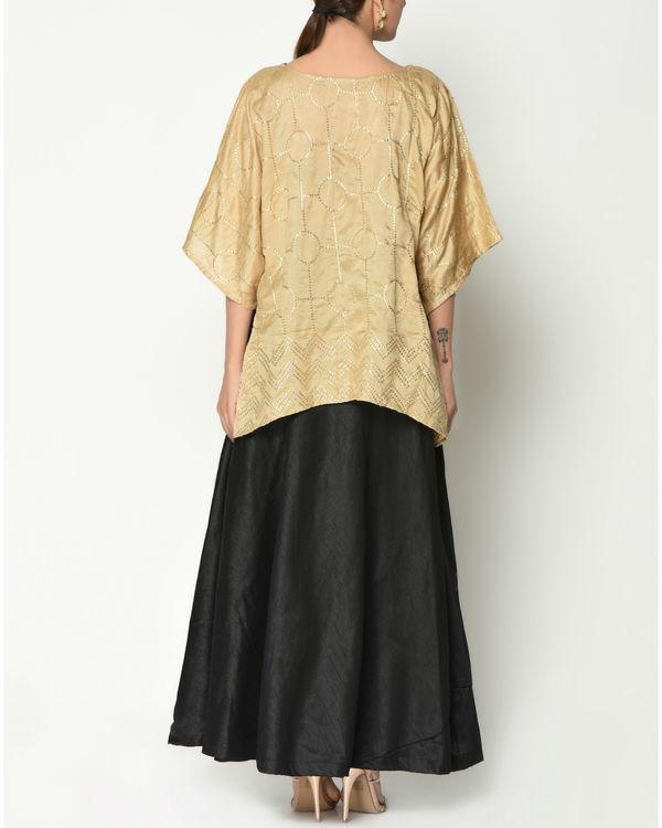 Gold kaftan top with skirt 3