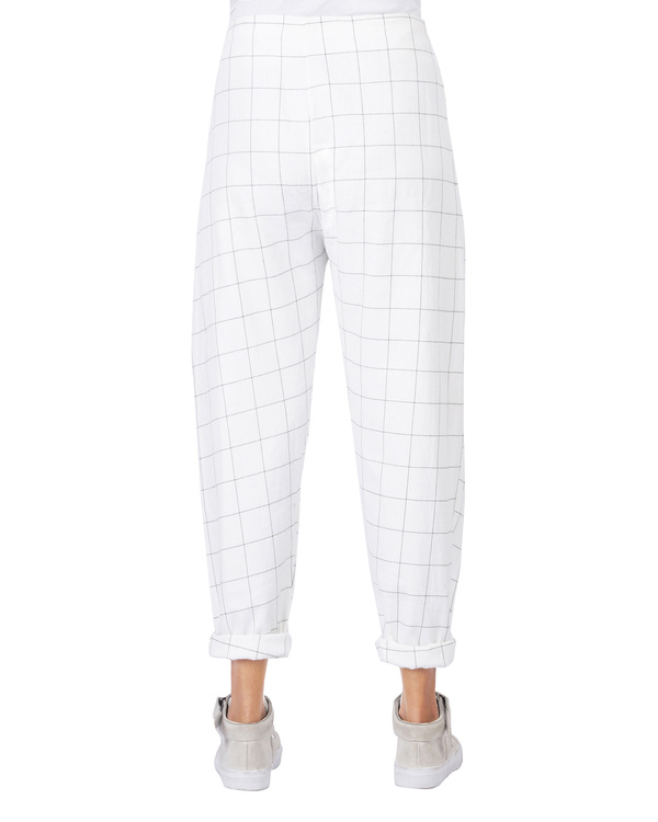 Checkered overlap pants 2