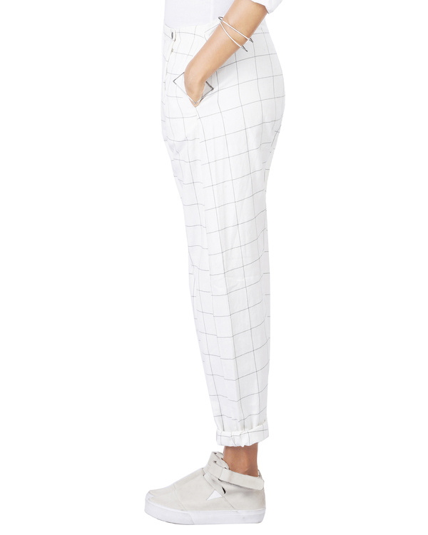 Checkered overlap pants 3