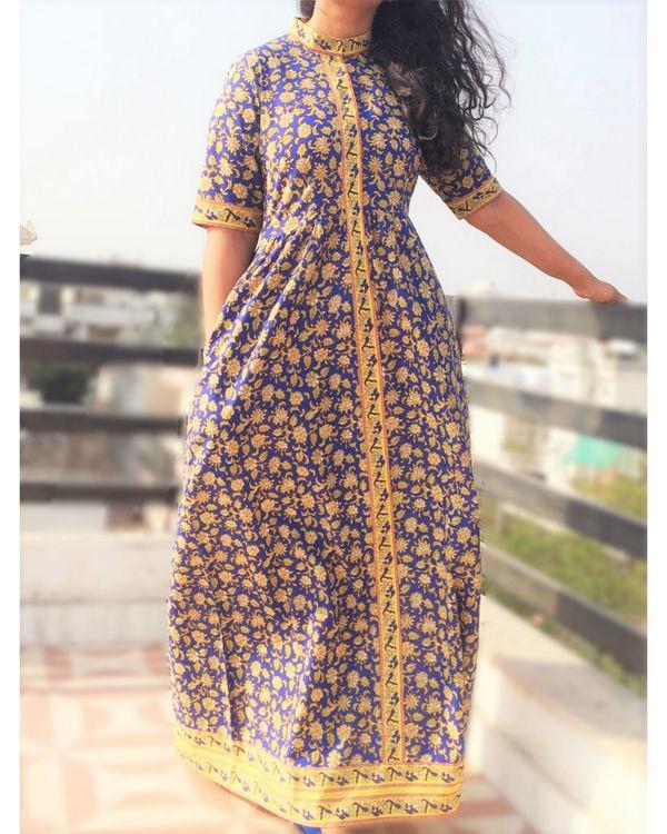 Ajrakh maxi dress 1