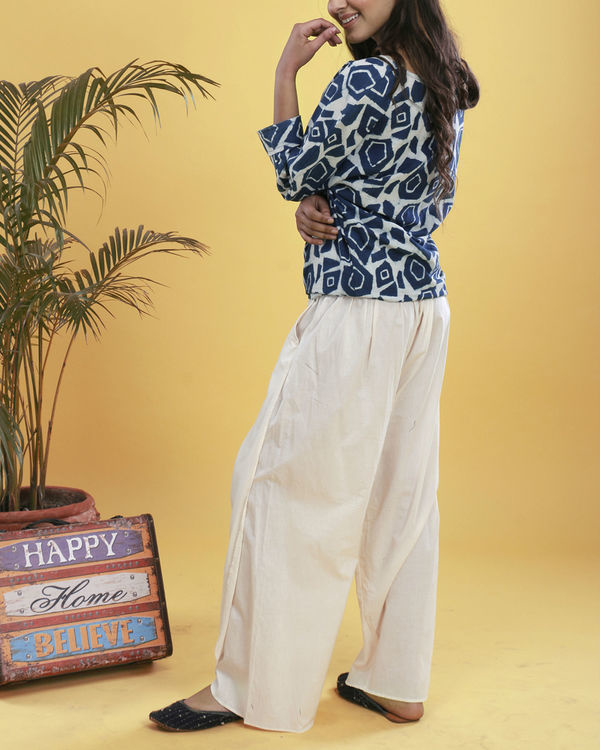 Abstract dhoti set 4